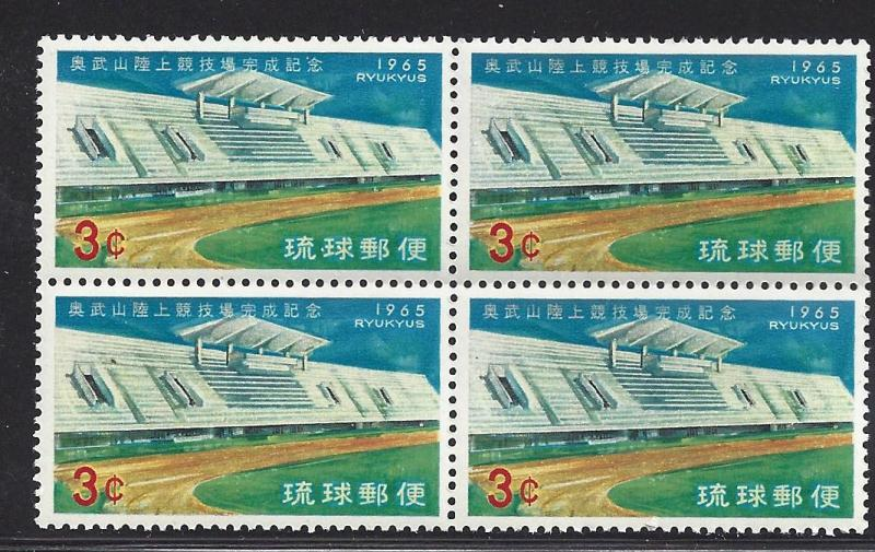 Ryukyu Islands 131 - 133 MNH Blocks of 4