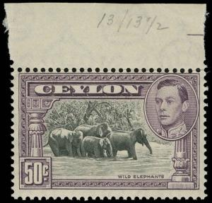 Ceylon Scott 286c Gibbons 394a Never Hinged Stamp