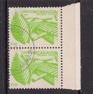 Nicaragua 2 x used stamps ( 423 )