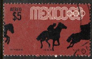 MEXICO C338, $5P Equestrian 4th Pre-Olympic Set USED. F-VF. (1229)