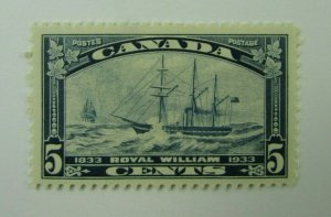 1933 Canada SC #204  ROYAL WILLIAM  5 cent  MH  F-VF stamp
