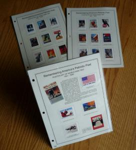 22 Stamp Set: American WW2 Poster Art on stamps - Cinderella