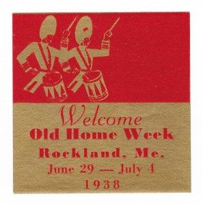POSTER STAMP OLD HOME WEEK ROCKLAND ME 1938 (MNH-OG)