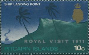 Pitcairn Islands 1971 SG115 10c Royal Visit ovpt MNH