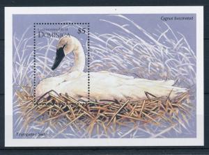 [29675] Dominica 1995 Birds Vögel Oiseaux Ucelli Swan MNH Sheet