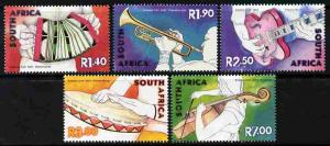 South Africa 2001 Musical Instruments perf set of 5 unmou...