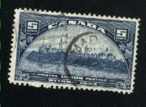 Canada #202   used   VF  PD