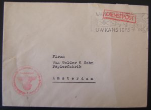WWII used postal stationary of Netherlands Reichskommissar Seyss-Inquart 1943