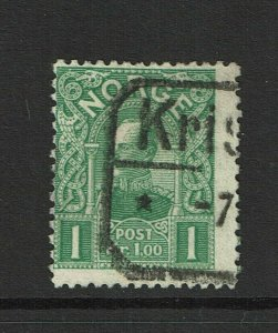Norway SC# 67, Used, Hinge Remnant - S9384