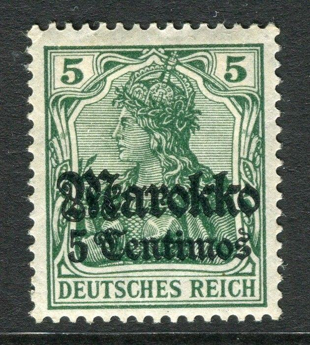 GERMAN COLONIES; MOROCCO 1911 early surcharged Mint hinged 5c. value