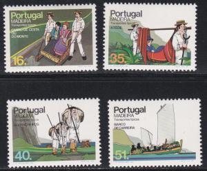 Portugal - Madeira # 97-100, Traditional Transportation Methods, NH, 1/2 Cat.
