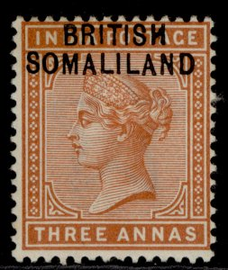 SOMALILAND PROTECTORATE QV SG5, 3a brown-orange, M MINT.