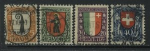 Switzerland 1923 Semi-Postal set of 3 used