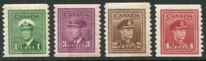 CANADA # 278 - 281 F-VF Never Hinged Set - KING GEORGE VI - S5721