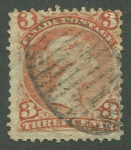 CANADA #25 USED LARGE QUEEN NEW BRUNSWICK NUMERAL CANCEL 13