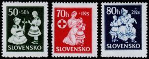 Slovakia Scott B11-B13 (1943) Mint H F-VF Complete Set