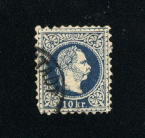 Austria #30  used VF 1867-72  PD