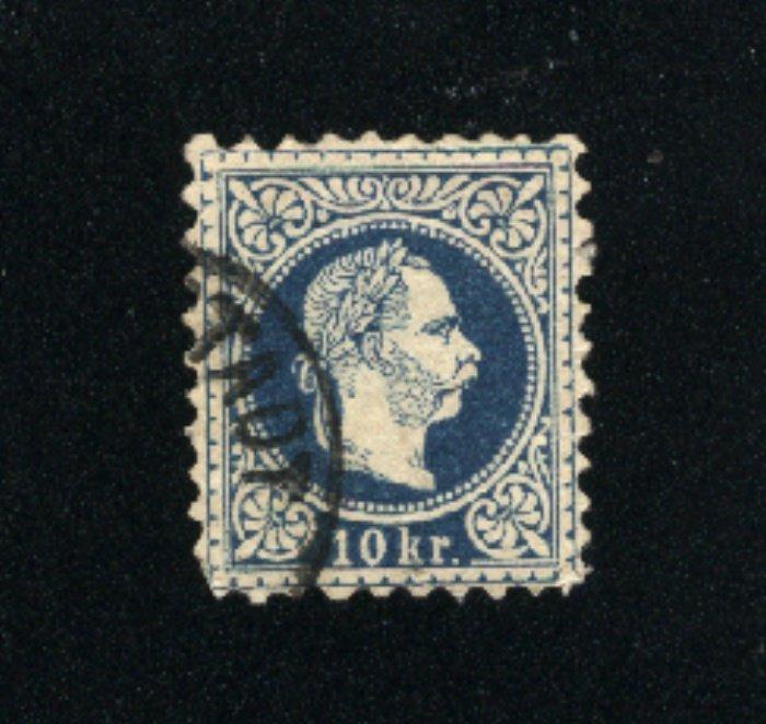 Austria #30  used VF 1867-72  PD