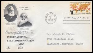 US FDC #1274 11c International Telecommunications Union - ArtCraft Cachet