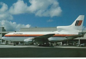 7511 Aviation Postcard  LOCKHEED L1011-500 N513PA UNITED    Airlines