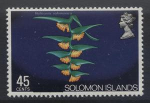 Solomon Is. - Scott 308 - Overprint -1975 - MVLH - Single 45c Stamp