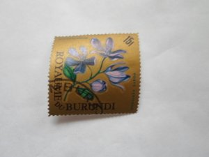 burundi stamp cto og mint hinged. # 13