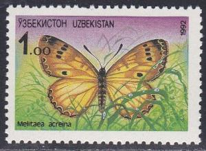 Uzbekistan # 2, Butterflies, NH