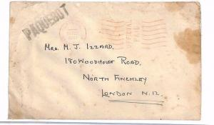 A1941.15 GB WW2 Bristol Official Paquebot Letter Military Ambulance/GB London
