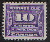Canada  #J14  Postage Due 1933 10ct used 2 images (b)