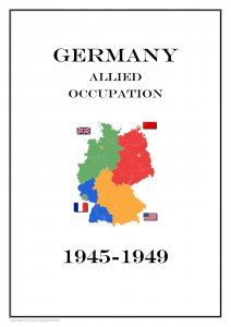 Germany Allied  Occupation 1945-1949  PDF(DIGITAL) STAMP ALBUM PAGES