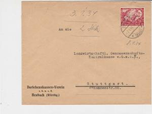 germany 1934 wagners opera stamps cover ref 20079