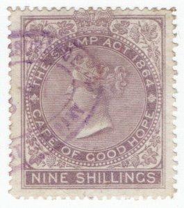 (I.B) Cape of Good Hope Revenue : Stamp Duty 9/- (1865)