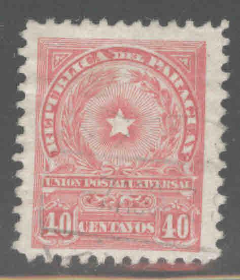 Paraguay Scott 214 Used coat of arms stamp