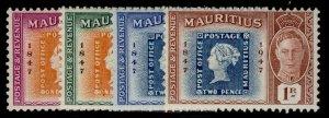 MAURITIUS GVI SG266-269, complete set, M MINT.