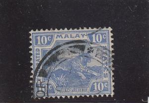 Malaya Federation  Scott#  47  Used