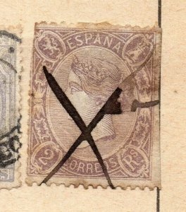 Spain 1872-73 Early Issue Fine Used 2c. NW-16585