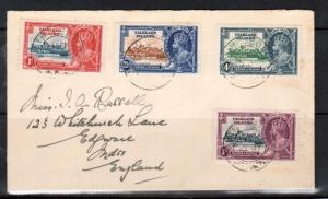 Falkland Islands #77 - #80 (SG #142c Included) Lightning Conductor Variety Cover