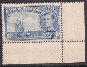 Cayman Islands 1938 - 48 KGV1 2 1/2d Bright Blue Umm SG 120 ( C790 )