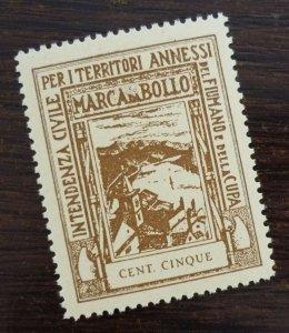 Fiume 1942 Croatia Italy Revenue Stamp CENT CINQUE  C8