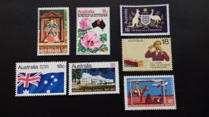 Australia Single Issues 1970's Unused