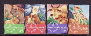 Cocos (Keeling) Is.-Sc#319-22-unused NH set-Imported Animals-1996-