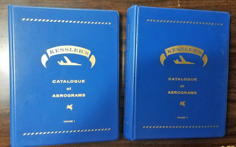Kessler's Catalogue of Aerograms. 542 pages in original blue binders. Scarce!