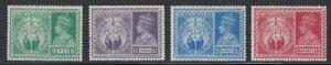 India 1946 Symbols of Victory Scott # 195 - 198 MH