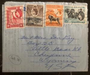 1960 Nyeri Kenya British KUT Air Letter Cover To Cheyenne WY USA
