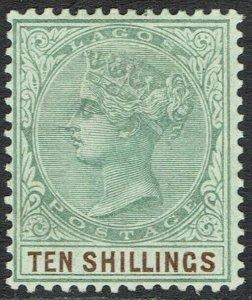 LAGOS 1887 QV 10/-
