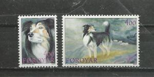 Faroe Islands Scott catalogue #266-267 Mint NH