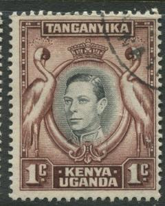 Kenya & Uganda - Scott 66 - KGVI Definitive -1938 - VFU - Single 1c Stamp