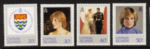 Cayman Islands 486-9 MNH Princess Diana 21st Birthday, Crest