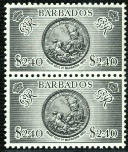 BARBADOS KGVI Stamps SG282 $2.40 High Value Pair (1950) Mint MNH c£52+ 2RBLUE135