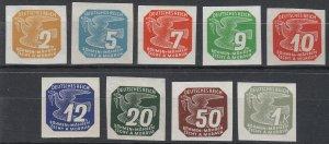 Stamp Germany Bohemia Czechoslovakia Mi 117-25 Sc P11-9 1943 WWII Newspaper MH